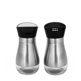 Home Belle Stainless Steel Salt & Pepper Shakers - Pack Of 3