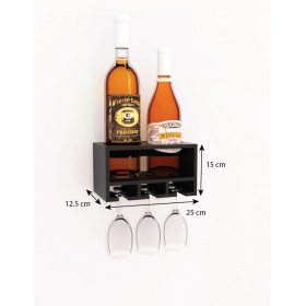 Wooden Wall Mounted Wine Holder