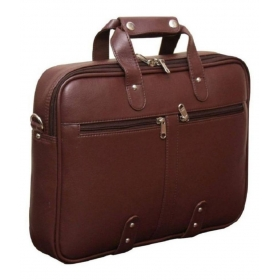 Home Story Brown P.u. Briefcase
