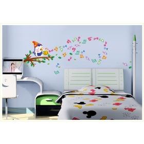 Ay645 Music Bird Cartoon  Wall Sticker  Jaamso Royals