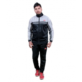 Sports Black Polyester Tracksuit