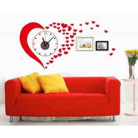 Sa-1-001w  Red /love Wall Clock Wall Sticker  Jaamso Royals