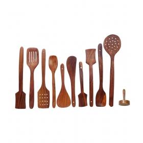 Desi Karigar Wooden Kitchen Essential Tools Set Of 11