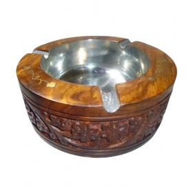 Handicraft Wooden Ash Tray