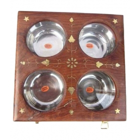 Handicraft Wooden Ash Tray