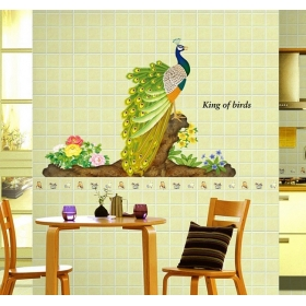 3d Mj9012 King Peacock 3d Wall Sticker  Jaamso Royals