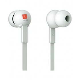 Iball Colorstick Ear Buds Wired Earphones With Mic White