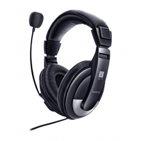 Iball Fluid20 Usb On Ear Wired With Mic Headphone Black