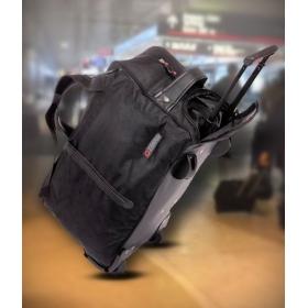 Blue Black Duffle Bag