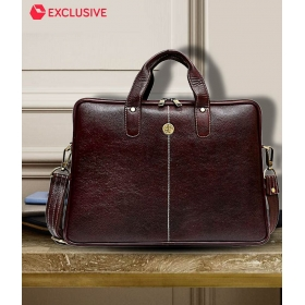 Latest Design Brown Genuine Leather Office Bag