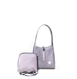 Ladies Two Piece Shoulder Bag Black