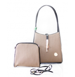 Ladies Two Piece Shoulder Bag Brown