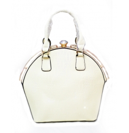 Fancy Ladies Shoulder Bag White