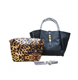 Ladies Shoulder Bag With Sling Bag Black