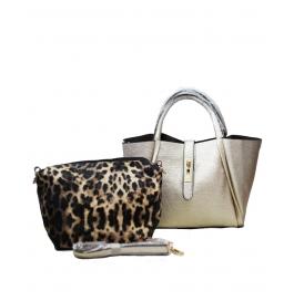 Ladies Shoulder Bag With Sling Bag Golden