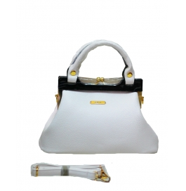 Famiga Ladies Hand Bag White