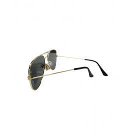Cruze Aviator Flat Aviator Sunglasses  (gold, Black)