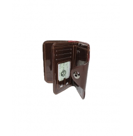 Bovi's Light Brown  Men's Wallet With  Push Button Enclosure