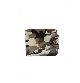 Forestfox Men's Army Yellow Leather Wallet (army Apparel Design)