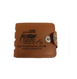 Bovi's Imported Brown Leather Wallet