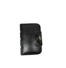 Bovis Men Brown Genuine Black  Leather Wallet ( 12 Card Slots)