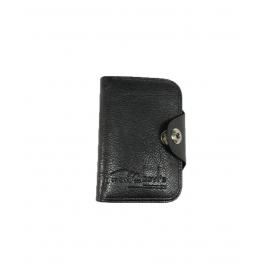 Bovi's Black Men's Wallet With Push Button Enclosure