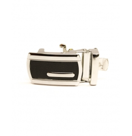 Adult Men's Black/ Silver  Buckle