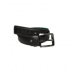 Men Black Genuine Leather Belt