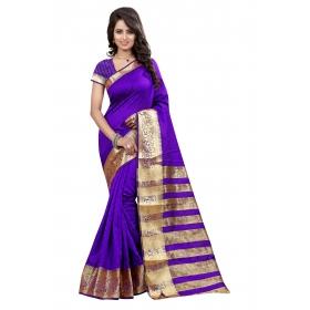Border Kery Purple Saree