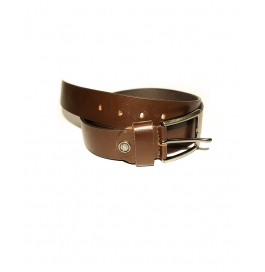 Men's Classic Dress Leather Belt,  Brown  Colors, Regular Big & Tall Sizes