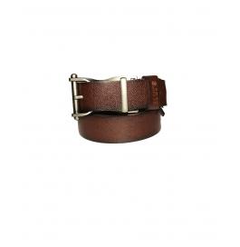 Men's Classic Leather Belt, Brown Colors, Regular Big & Tall Sizes