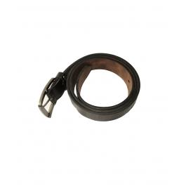 Men Casual Black Genuine Leather Belt