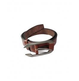 Casual  Brown Artificial Leather Belt