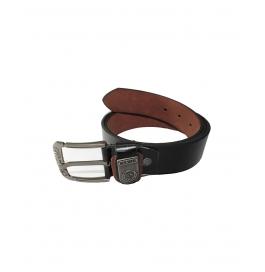 Men Formal Black Genuine Leather Belt