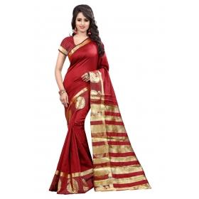 Kery Mor Red Saree