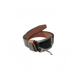 Men Formal Black Leather Belt