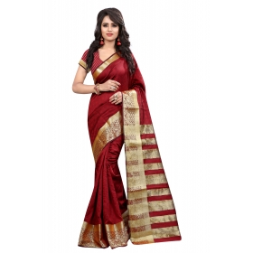 Vel Kery Red Saree