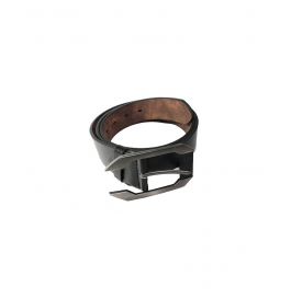 Men Casual Evening Black Genuine Leather Belt