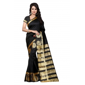 Kery Mor Black  Saree