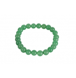 Excel Beads Rhodium Plating Crystal Studded Green Coloured Bracelet