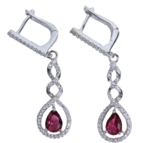 Crystal Designer Earrings (purple Color)