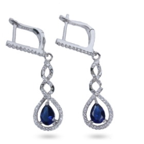 Crystal Designer Earrings (blue Color)