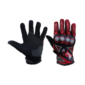 Master Red And Black Bike Gloves - Large