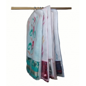 Transparent Printed Non Woven Hanging Saree Cover - Set Of 5