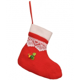 Santa Claus Christmas Tree Decoration Gift Stocking-(pack Of 1)