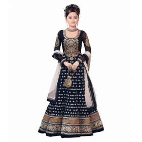 Girl's Faux Georgette Anarkali Dress Material