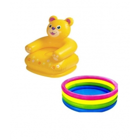 Intex Combo Teddy Chair & Baby Swimming Pool