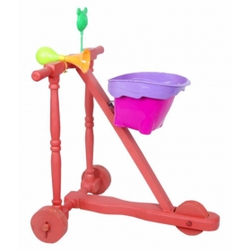 Red Wooden Baby Walker