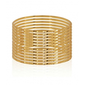 12 Piece Gold Plated Well Crafted Bangles