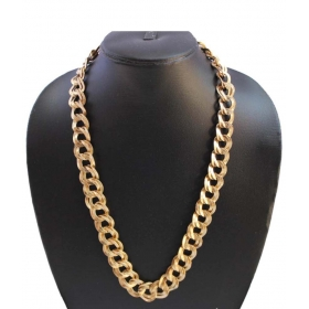 Galaxy Broad 18kt Sachin Gold Plated Chain For Men